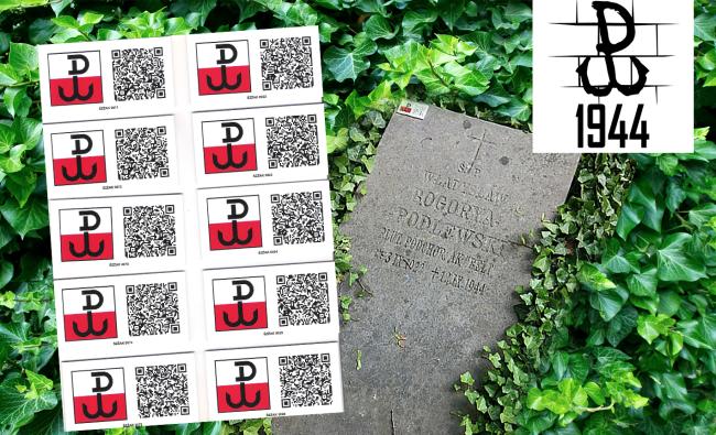 Tabliczki z kodem QR (odporne na UV) dla Związku Żołnierzy Armii krajowej